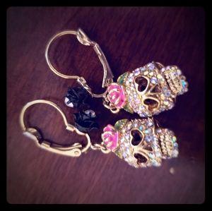 Betsey Johnson candy skull  Earrings